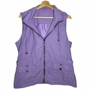 Northern Reflections Lilac Purple Vest Sz L
